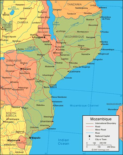 map of mozambique cities ms k s africa geography project mozambique
