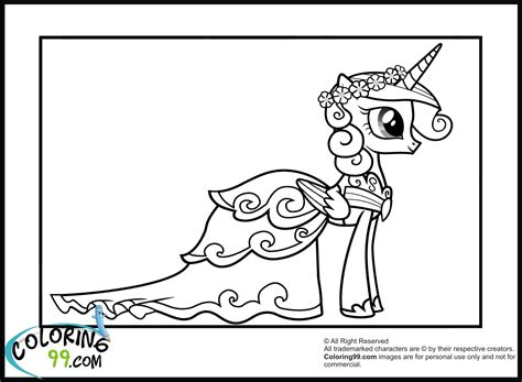 Princess Cadence Coloring Pages Minister Coloring My Pony Princess Cadence Coloring Pages