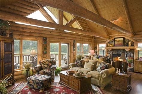 log cabin great room pictures rustic iowa log home photos by expedition log homes