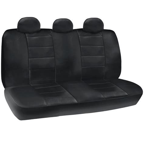 pu leather car seat covers black fit for sedan suv w
