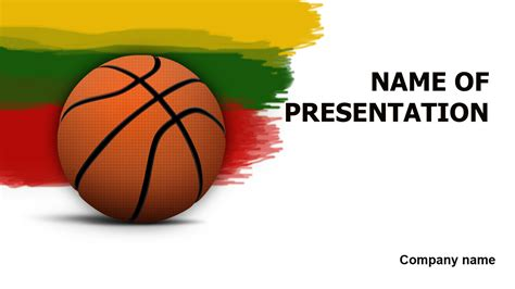 download free lithuanian basketball powerpoint template