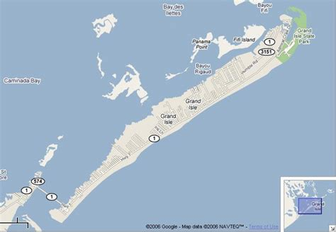 map of grand isle louisiana map