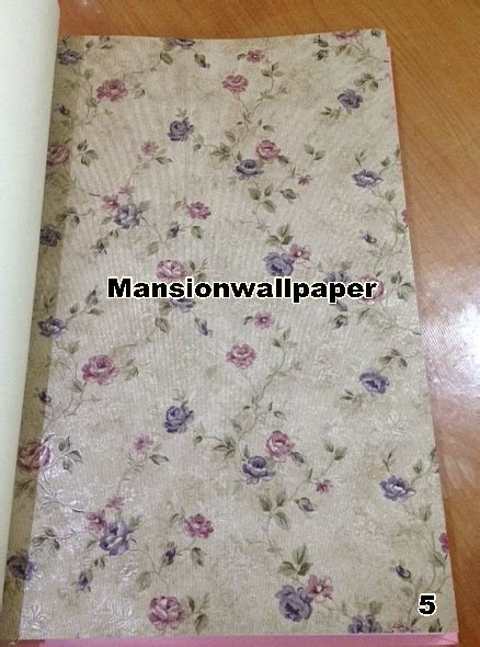 Wallpaper Bunga Shabby 10 Meter by Jual Wallpaper Dinding Bunga Sweet Shabby Chic Mansion