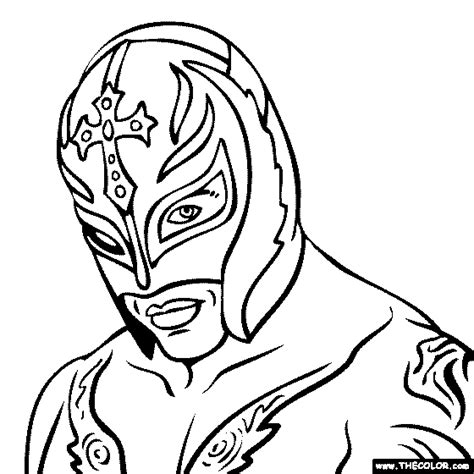 Rey Mysterio Coloring Pages Mysterio Coloring Pages