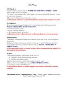 Soap note template ot pinterest soap note therapy