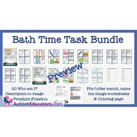 Bathrrom Iep Goals Bath Time Task Bundle