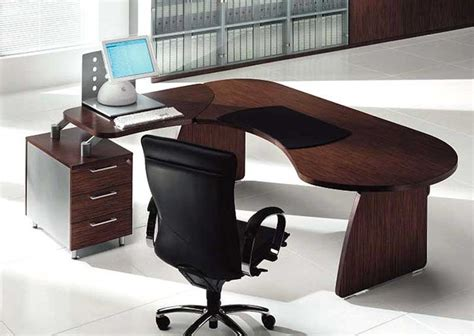 Tai Wood Contoured Office Desk By Uffix Modern Desks Modern Wood Office Desk