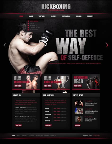 Boxing Website Template 37542 Boxing Templates Free