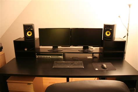 Music Producer Desk I See What You Did There Home Recording Studio Desk Ikea