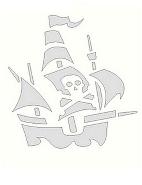 pirate ship template for pirate ship pumpkin template