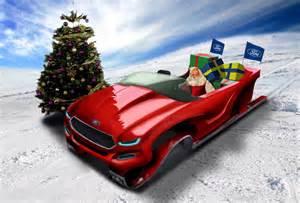 ford designs a greener sleigh concept for santa claus