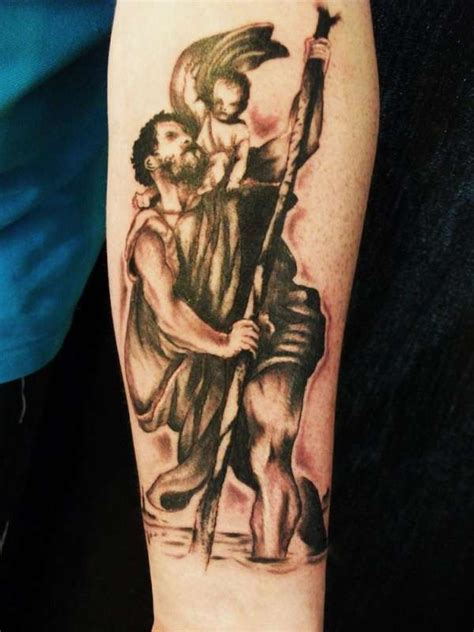 saint christopher tattoo st christopher and piercings