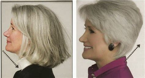 hair style for mature face with sagging double chin look younger with a flattering hairstyle look