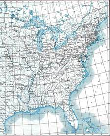 Map Of Eastern Us States by Eastern United States Map 1906 Full Size