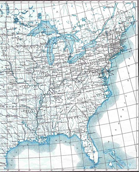 lat map maps united states map with longitude and latitude lines