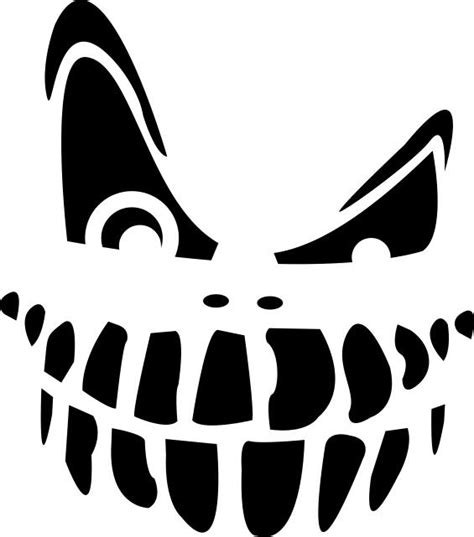 scary jack o lantern template printable simple pumpkin carving templates time for the holidays