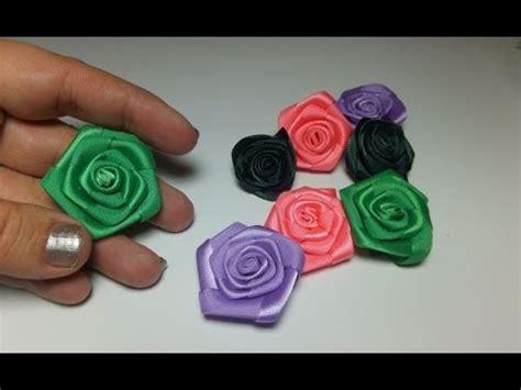 vomo hacer flores en cinta de agua flores de cinta de raso youtube