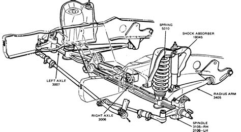 ford f250 front suspension diagram 1986 ford f 250 4x4 front suspension parts autos post