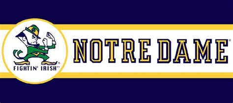 Navy Blue And White Drapes Notre Dame Fighting Irish 7 Quot Tall Wallpaper Border