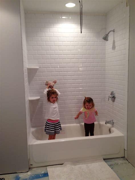 beveled subway tile shower we a shower white beveled subway tile bathroom