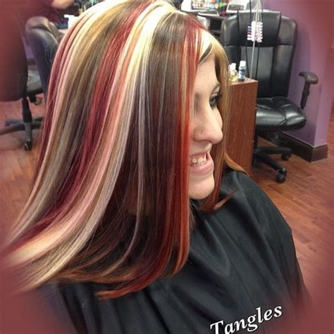 colors of streaks in hair for black women multiple color highlights highlights taken with instagram