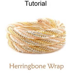 Photo Jewelry Making Kits - twisted tubular herringbone beaded memory wire wrap bracelet beading pattern tutorial simple