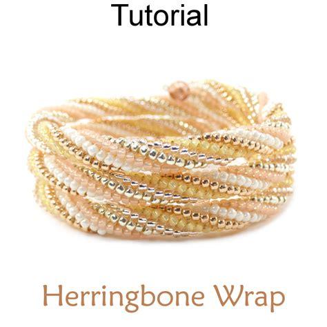 Twisted Tubular Herringbone Beaded Memory Wire Wrap Bracelet Beading Pattern Tutorial   Simple