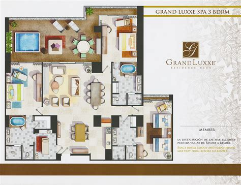 grand luxxe spa tower floor plan grand luxxe spa tower three bedrooms grand luxxe residence