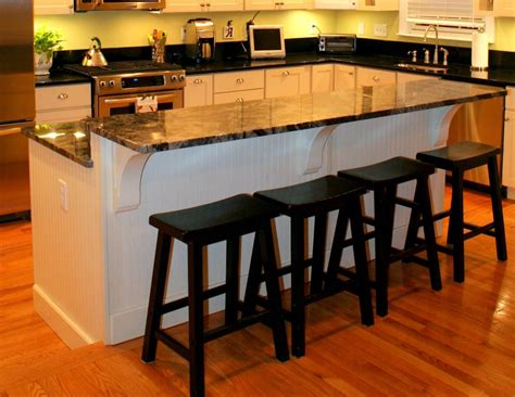 black granite kitchen islands with seating kitchen island