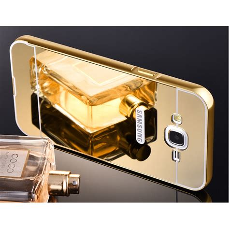 Samsung Galaxy S7 Edge Mirror Alumunium Bumper Casing Back aluminium bumper hardcase with mirror back cover for