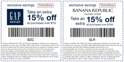 gap outlet printable coupon july 2015 gap outlet coupons august 2015