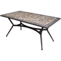table de jardin marocco rectangulaire bronze 6 personnes