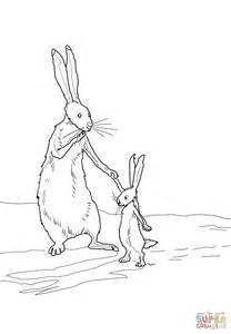 Ausmalbild: Der kleine braune Hase und der große braune