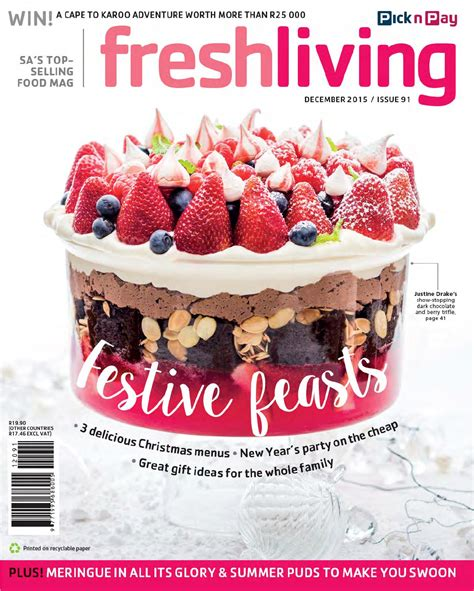 fresh living fresh living december 2015 by pick n pay