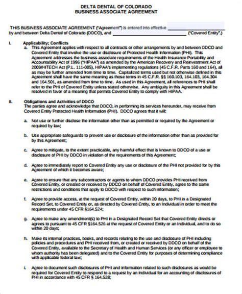 9 Sle Business Associate Agreements Sle Templates Dental Partnership Agreement Template