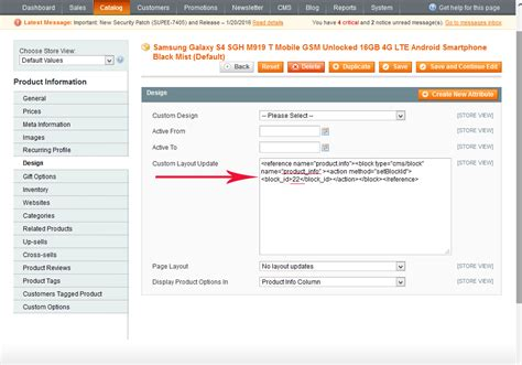 magento layout update replace block magento how to add static block to individual products
