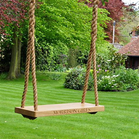 unique outdoor swings the oak and rope company personalised swing country
