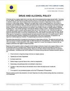 drug and alcohol policy sample printable templates