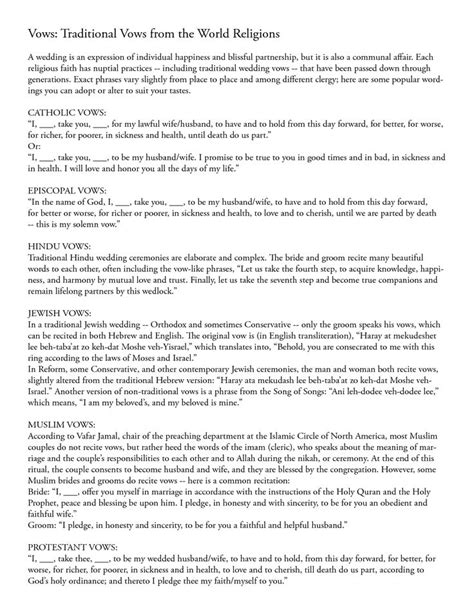 vow writing template 20 best images about vows on traditional
