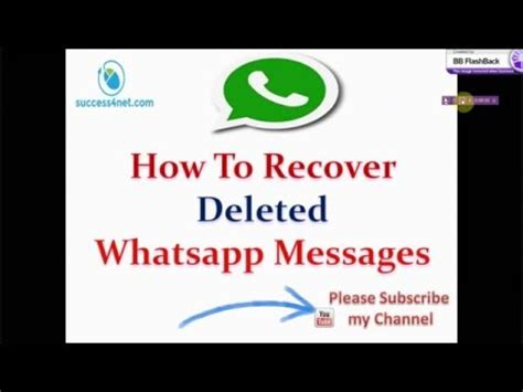 tutorial how to restore deleted whatsapp messages on how to recover deleted whatsapp messages android doovi