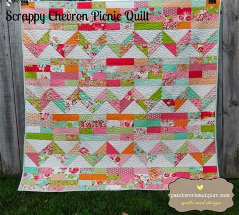 Quilting Lessons For Beginners by Scrumptious Scrappy Chevron Picnic Quilttutorial On The