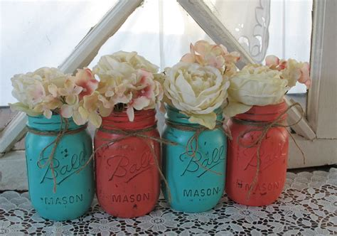 Colored Kitchen Canisters by Mason Jars Decorative Mason Jars Wedding By