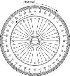 Circular Protractor Template by Pin Printable Circular Protractor On