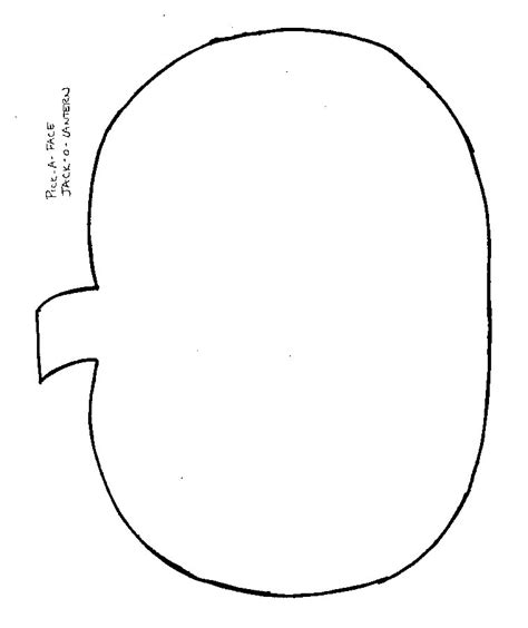 pumpkin outline template crafts print your pumpkin template all