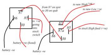2 best images of 87a relay wiring diagram motorcycle headlight relay wiring diagram