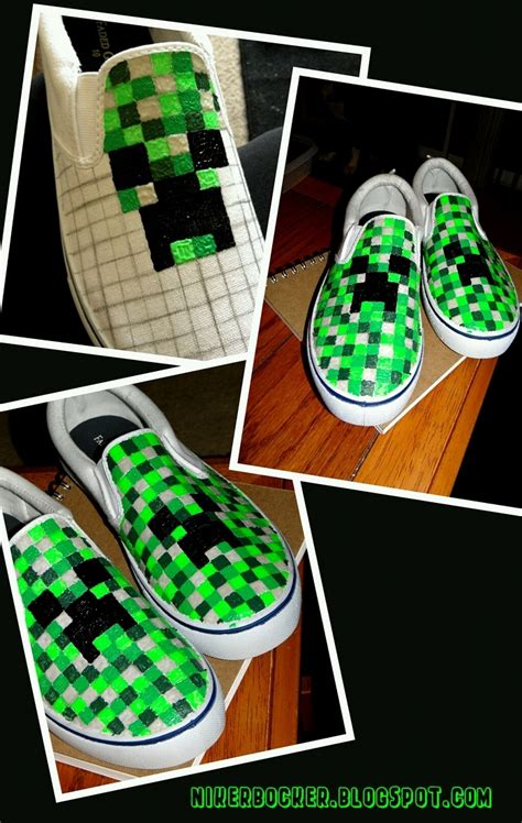diy minecraft shoes nikerbocker bam minecraft shoes awesome board