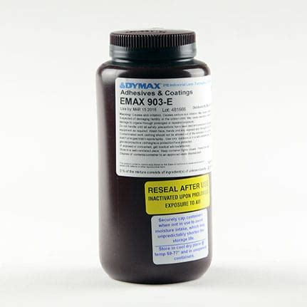 uv curing l dymax e max 903 e uv curing conformal coating clear 1 l bottle