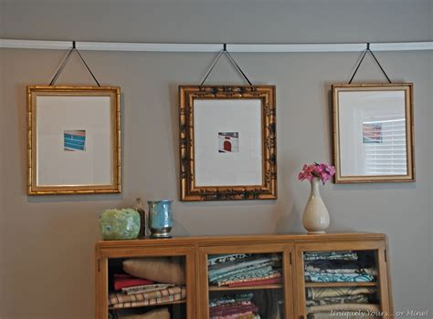 hanging pictures picture rail