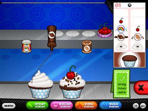 papa s cupcakeria comidas aderezos cocina cocinero comida cueza al horno cupcake