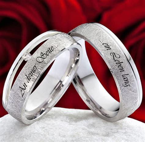 Verlobungsring Mit Ehering by Eheringe Verlobungsringe 925 Silber Mit Echten Diamant Und